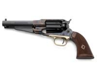Revolver à Poudre Noire Pietta REMINGTON 1858 Sheriff Acier Jaspée cal.44