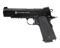 PISTOLET AIRSOFT ELITE FORCE 1911 TAC NOIR CO2 BLOWBACK FULL METAL HOP UP 1.3 JOULE