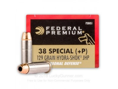 38SP +P HYDRA-SHOCK JHP FEDERAL