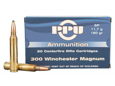 CARTOUCHE 300 winchester magnum PARTIZAN Soft Point 180 grains