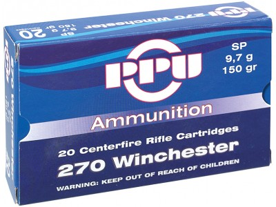 CARTOUCHE 270 winchester PARTIZAN Soft Point