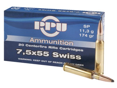 7.5x55 SWISS PARTIZAN Soft Point