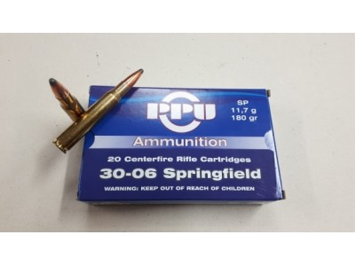 CARTOUCHE 30-06 Springfield PARTIZAN Soft Point 180 grains