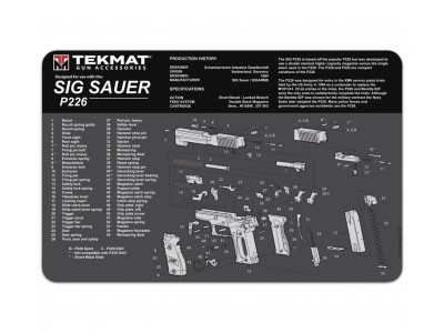 TAPIS DE DÉMONTAGE TEKMAT POUR PISTOLET ( VISUEL SIG P226 )