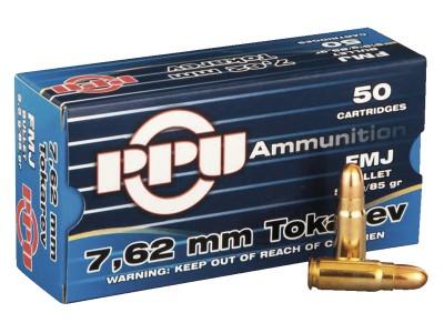 Cartouches calibre 7,62x25 Tokarev  PARTIZAN