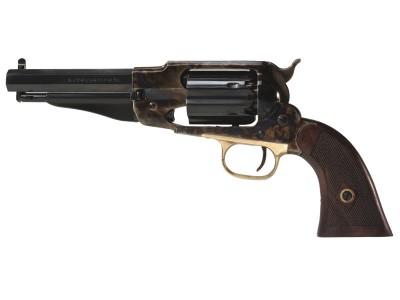 REV. PIETTA 1858 ARMY ACCIAIO SHERIFF CAL. .44 CANON OCTOGONAL ACIER JASPÉ SA 6CPS