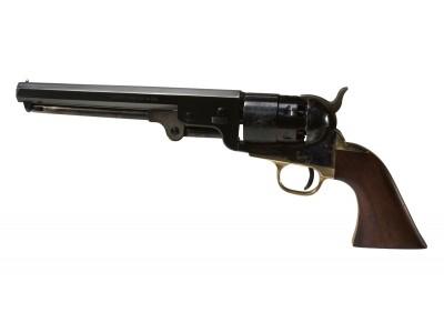 REV. PIETTA 1851 NAVY YANK CAL. .44 CANON OCTOGONAL ACIER JASPÉ SA 6CPS