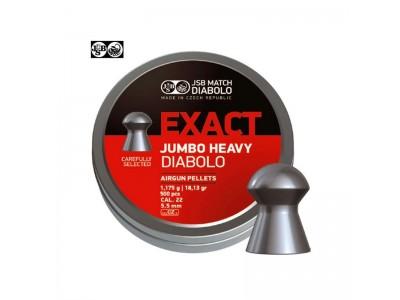 JSB DIABOLO  EXACT JUMBO HEAVY PAR 500 CAL.5,52mm