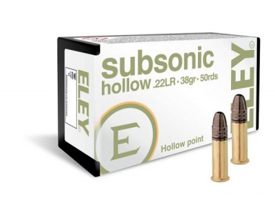 22LR ELEY SUBSONIC 38gr (boîte de 50)
