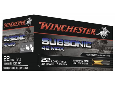22LR WINCHESTER SUBSONIC 42MAX
