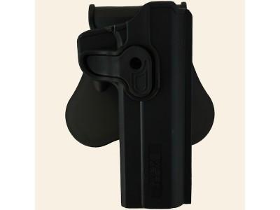 Holster Droitier Rigide Polymère CQC Réplique Colt 1911 Noir