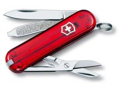 Couteau Suisse Victorinox Classic rouge translucide