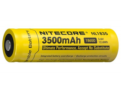 BATTERIE / ACCU RECHARGEABLE 18650 NITECORE 3500 mAh