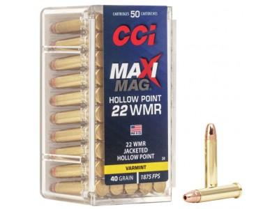 22WMR CCI MAXI-MAG JHP (boîte de 50)