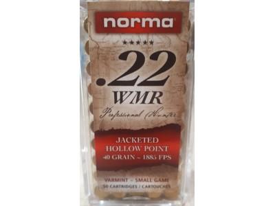 22WMR NORMA JHP 2.6g/40gr (boîte de 50)