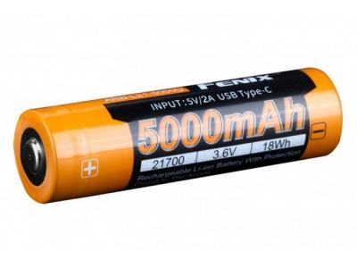 BATTERIE / ACCU RECHARGEABLE FENIX 21700 5000mAhPAR USB