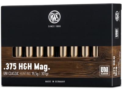 375 H&H Magnum RWS UNI CLASSIC (boîte de 20)