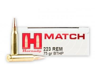 223 REM MATCH HORNADY 75gr HPBT (boîte de 20)