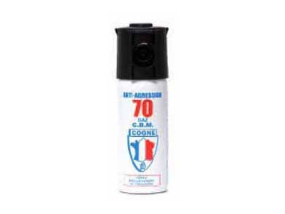 AEROSOL DE DEFENSE A GAZ CS 50ml