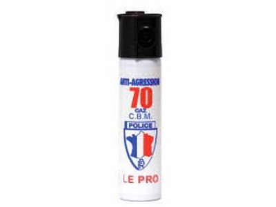 AEROSOL DE DEFENSE A GAZ CS 75ml