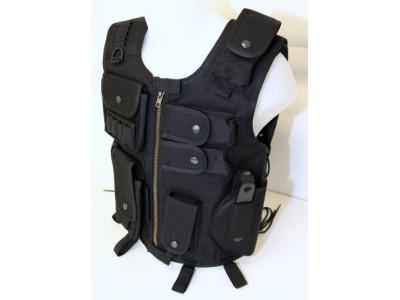 Gilet veste tactique SWAT noir ASG