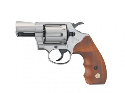 Colt Detective Special nickelé crosse bois calibre 9mm R