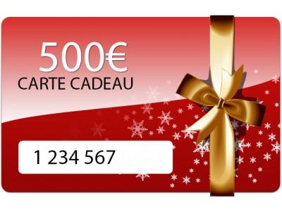 Carte cadeau de 500 euros