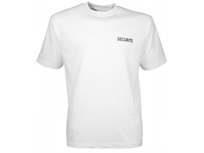 T-SHIRT SECURITE CITYGUARD BLANC
