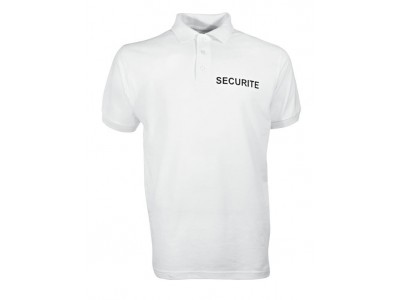 POLO SECURITE CITYGUARD BLANC