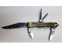 Couteau Le Pionnier corne blonde 6 pièces