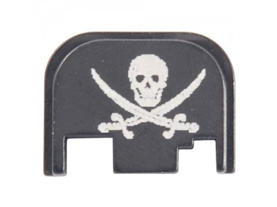 Plaque de protection culasse / Slide plate Glock - Pirate Jolly Roger