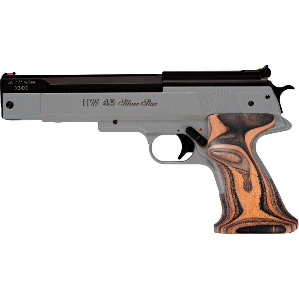 pistolet hw 45 silver star calibre 4 5mm armurerie pascal paris. Black Bedroom Furniture Sets. Home Design Ideas