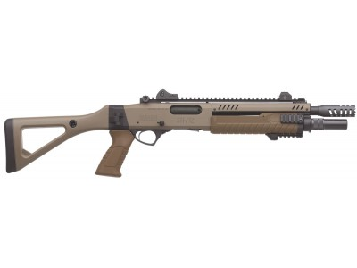 """FUSIL A POMPE FABARM STF 12 COMPACT 18"""" FLAT EARTH  12/76 LISSE"""