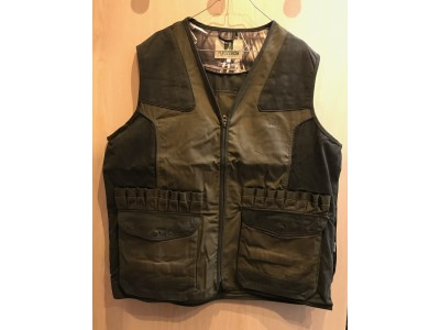 GILET DE CHASSE PERCUSSION TRADITION BRODE KAKI