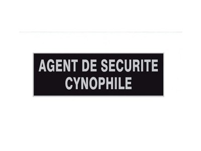 PATCH POITRINE AGENT CYNOPHILE