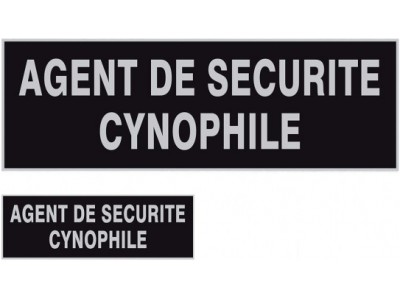 LOT 1 DOSSARD + BANDE POTRINE AGENT CYNOPHILE
