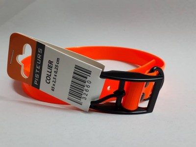 COLLIER PISTEUR Polyuréthane ORANGE 65cm x 25mm