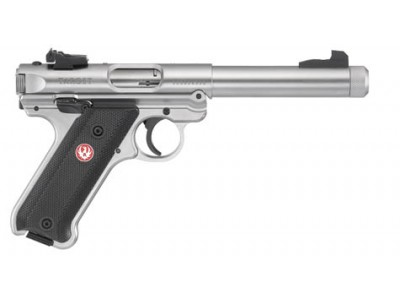Pistolet RUGER MARK IV TARGET INOX FILETE Cal.22LR